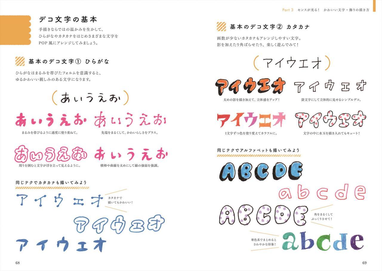 手づくりpop かわいい文字 イラストの描き方 ナツメ社