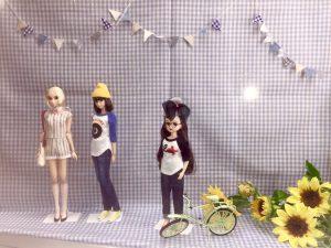 オカダヤ新宿本店にて『DOLL'S CLOSET SEASONS』に掲載のお人形とお洋服を展示中!